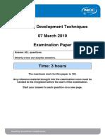 SDT_2019_Mar_Exam