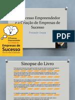 O Processo Empreendedor e a Criação de Empresas