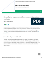 Power Factor Improvement Principle and Correction Methods _ Electrical Concepts