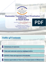 Wastewater Treatment Plant Privatization I