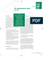 Statistics of AC underground cable