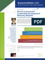 A Leadership Development Maturity Model