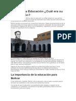 Bolívar y la Educación.docx
