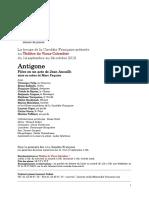 Dossier de presse Antigone Comédie Française mise en scène Marc Paquien.pdf
