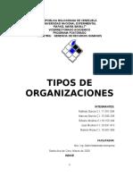 TEORIA ADMINISTRATIVA. TIPOS DE ORGANIZACIONES