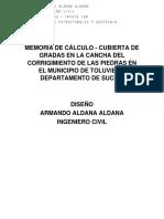 MEMORIA DE CÁLCULO CUBIERTA
