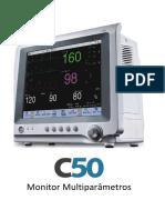 Monitor Multiparâmetros C50 catálogo Português