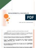 Managementul riscurilor si controlul intern - postat 22.04.2020