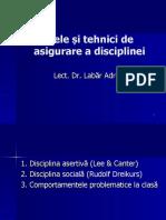 Modele si tehnici de asigurare a disciplinei 2018