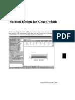 Section Design For Crack Width