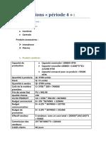 Les décisions Période 4 (GP 08)