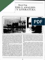 Puig El fin de la literatura