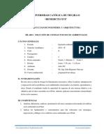SÍLABO SOLUCIÓN DE CONFLICTOS SOCIOAMBIENTALES