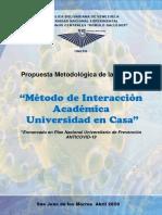 UNERG 2020-Método de Interacción Académica Universidad en Casa
