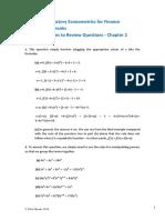 ch2 - econometrics