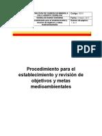 Procedimiento para el establecimiento y revisión de objetivos y metas  medioambientales.docx