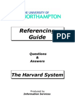 HARVARD NBS - Referencing Guide