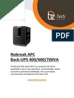 manual-apc-back-ups APC Back-UPS 400VC, 600VA &700VA Brasil