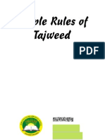 Simple Rules of Tajweed