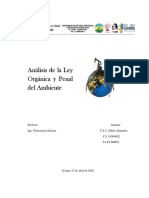LEY ORGÁNICA DEL AMBIENTE Y LEY PENAL DEL AMBIENTE