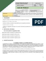 Guía química IIperiodo-7°configuración electrónica
