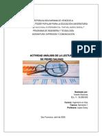 ANALISIS DE LECTURA PEDRO SALINAS