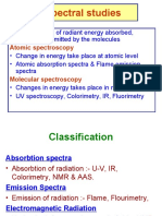 Spectral studies