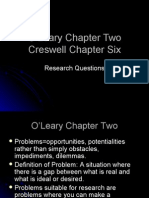 O'Leary and Creswell Chapter Two