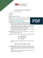 Discrete Mathematical Structures ASU