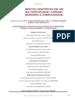 Apontamentos científicos em um campo multidisciplinar Turismo Ciência Moderna e Complexidade