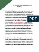 INFORME  DE LECTURA  POLITICO  DE  LA FRANJA AMARILLA