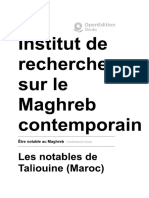 Les notables de Taliouine (Maroc) et leur rôle dans la gestion territoriale
