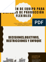 Selección de equipo para sistemas de producción flexibles