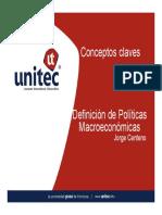Conceptos base de politica Macroeconomica Honduras
