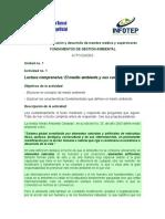 Fundamentos de gestion ambiental - Actividad de la unidad 1