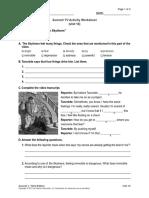 documentary worksheet