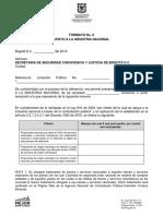FORMATO No. 9 - APOYO A LA INDUSTRIA NACIONAL