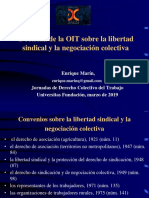Doctrina de la OIT sobre la libertad  SINDICAL Y LA NEGOCIACIÓN COLECTIVA Presentación.JDCT-Ponencia-Enrique.Marín