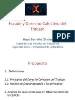 Fraude y Derecho Colectivo del TRABAJO.  Presentación.JDCT-Ponencia-Hugo.Barretto