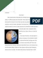 research essay mars