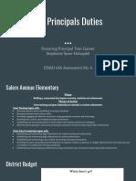 the principals duties