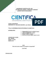 determinación de proteínas plasmáticas