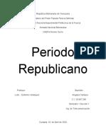 PERIODO REPUBLICANO