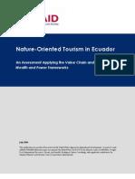 Ecuador Nature Oriented Tourism FRAME AMAP Assessment[1]