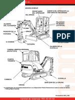 Material Miniexcavadora Bobcat Identificacion Partes Componentes (1)