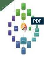 Mapa mental con las estructuras del cerebro y sus funciones en el aprendizaje