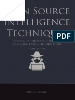 Michael Bazzell - Open Source Intelligence Techniques_ Resources for Searching and Analyzing Online Information-Createspace Independent Publishing Platform (2018)