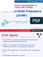 DTMF (Touch Tone) SIGNALING Tone Generation and Detection Using MATLAB