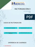 Factorización II