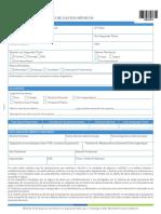 Formulario METLIFE GASTOS MEDICOS